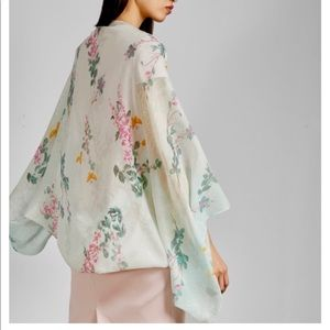 Ted Baker Accessories - TED BAKER Suzana Sorbet silk cape s…